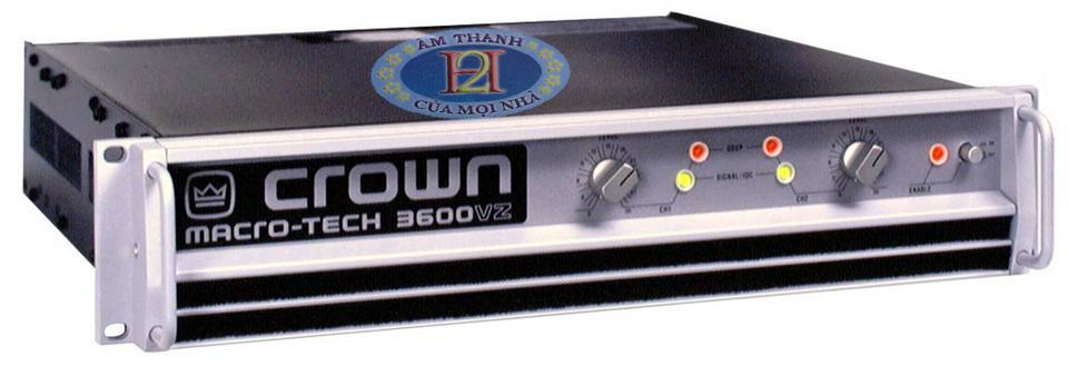 Công suất hàng bãi - Crown Macoro-tech 3600VZ xịn đẹp chất